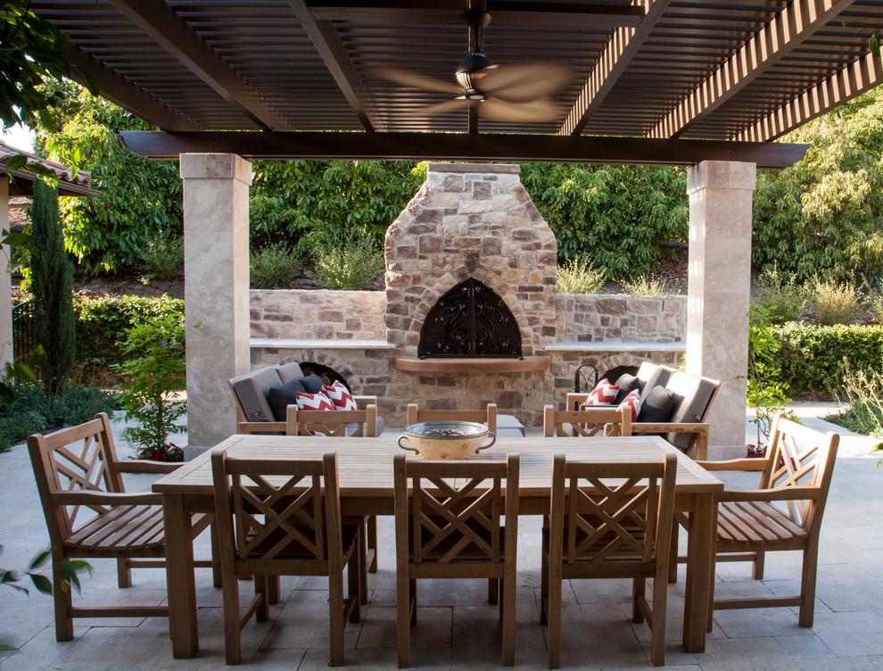 Courtyard Dining in De Luz - Craftsman - Patio - San Diego ...