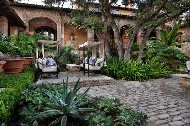 Courtyard Hacienda Mediterranean Patio Austin By Chas