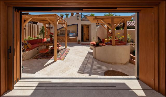 Courtyard makeover eclectic-exterior