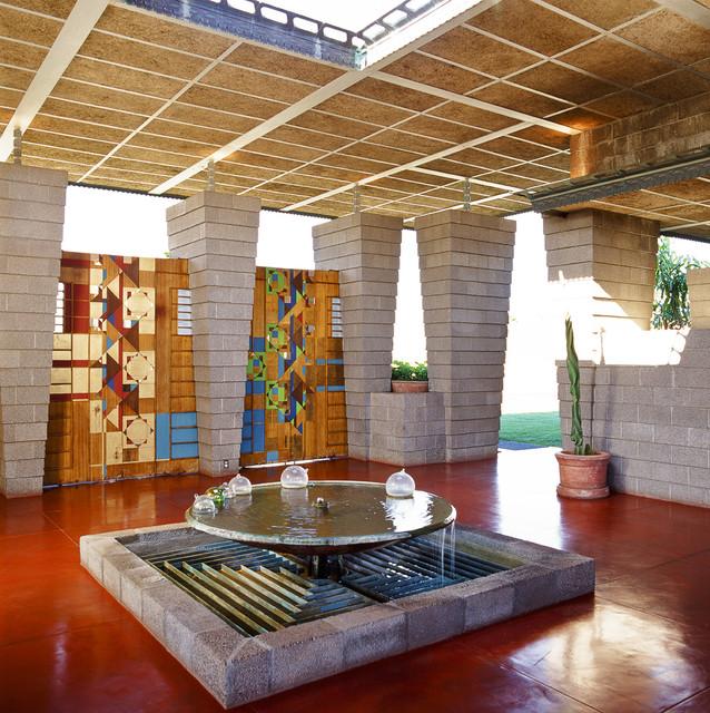 Courtyard Of Frank Lloyd Wright Home Modern Patio