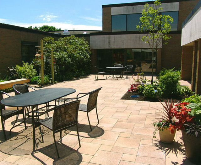 Courtyard Renovation For Veteran 39 S Residence Traditional Patio Providence By Bradford