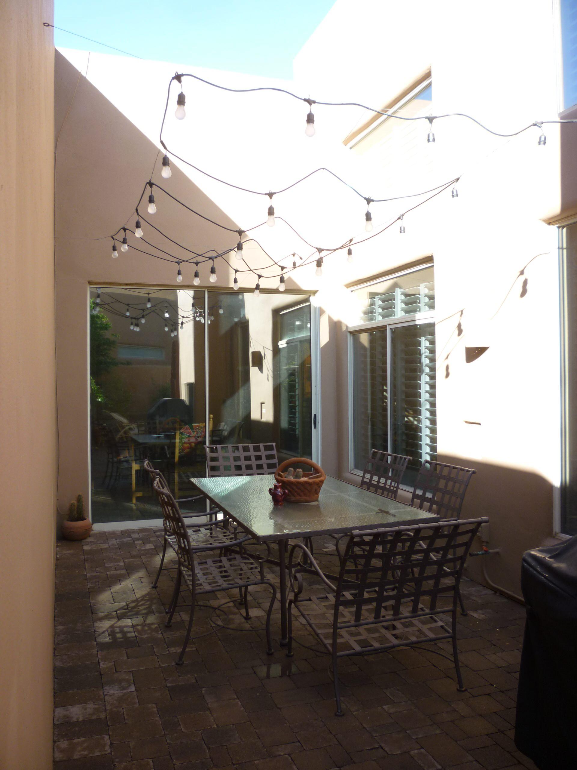 Courtyard w/ Overhead Lighting