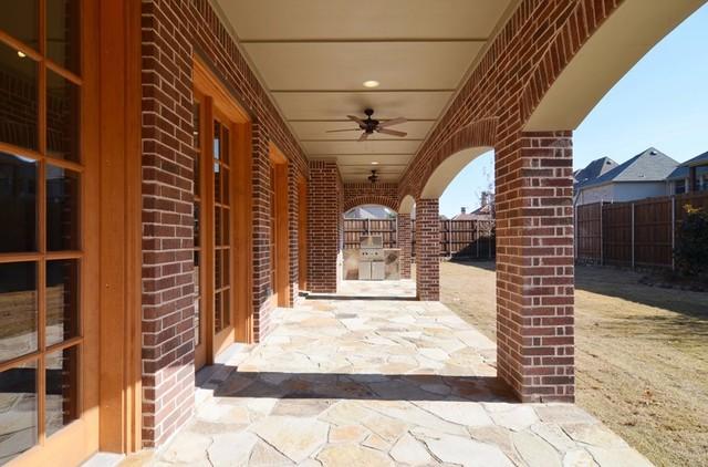 Covered back patio contemporary-patio