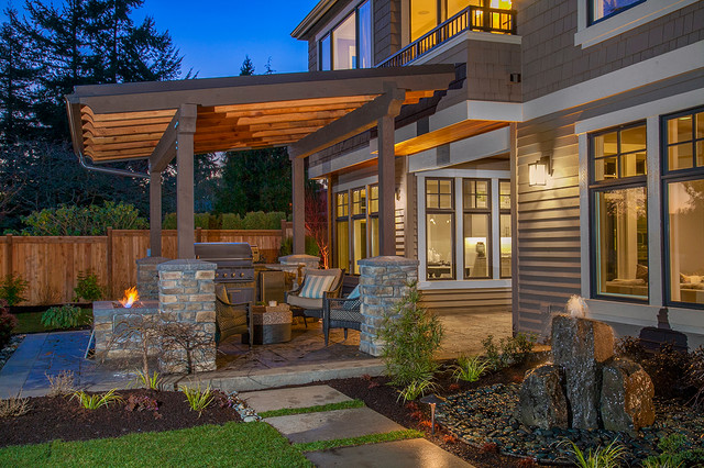 Covered Outdoor Living Area - Contemporary - Patio ... on Outdoor Living Buildings id=21605