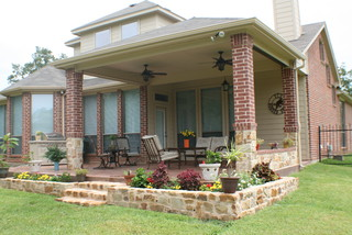 Covered patio Fort Worth Burleson TX - Traditional - Patio - other metro - by Archadeck of Fort ...