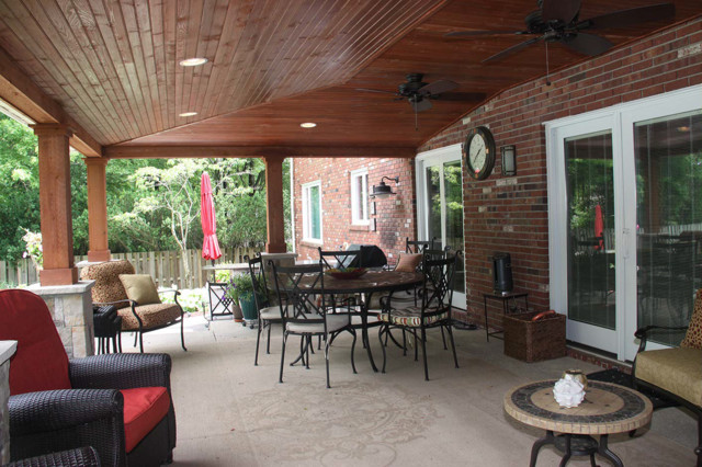 Covered Patio Ideas Cleveland rustic-patio