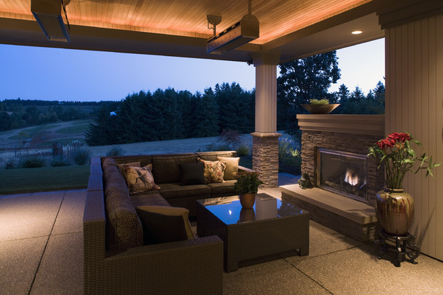 Covered Patio Contemporary Other Metro By