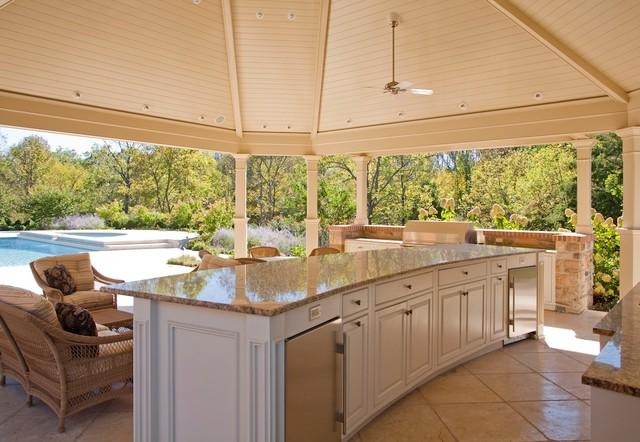 Covered Pool Veranda and Interior Renovations traditional-patio