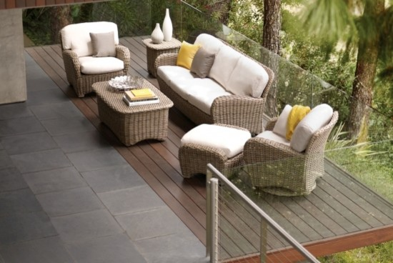Cozy Outdoor Living Room Transitional Patio