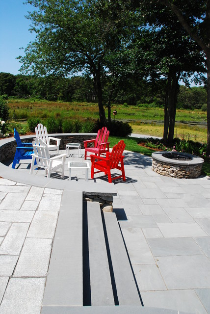 Cranberry bog patio and fire pit for Idee portico florida