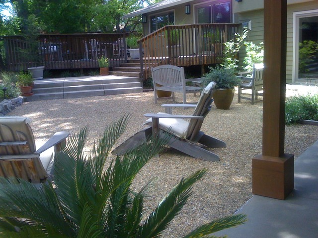 Crushed Stone Landscaping Ideas : Crushed rock patio contemporary san francisco