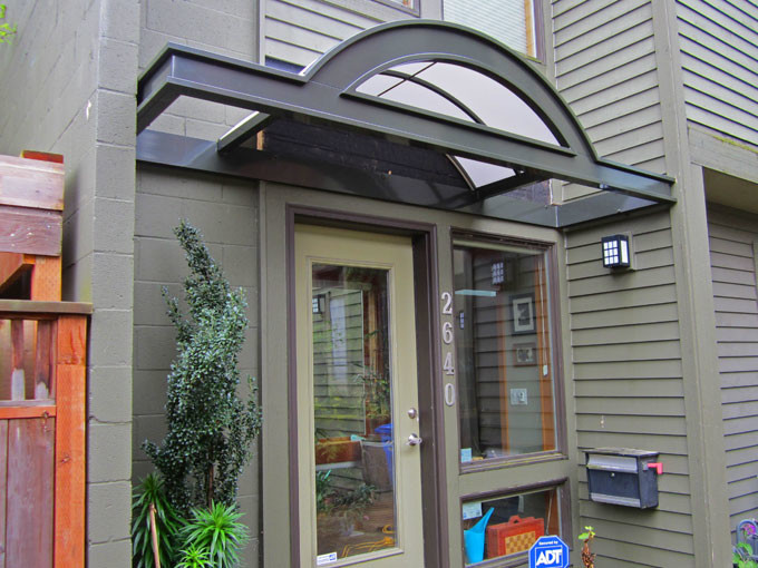 Curved entryway awning - Modern - Patio - Portland - by ...