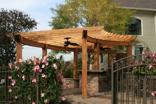 Curved Pergola Project on Curved Patio Ideas id=25353