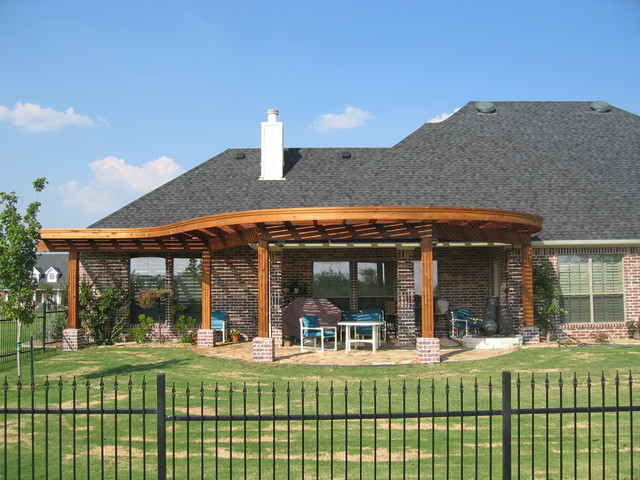 curved pergola on Curved Patio Ideas id=29754