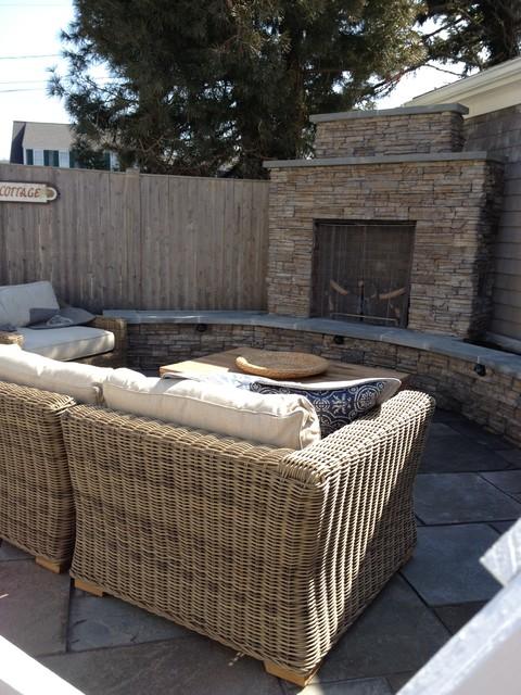 Custom Backyard Area traditional-patio