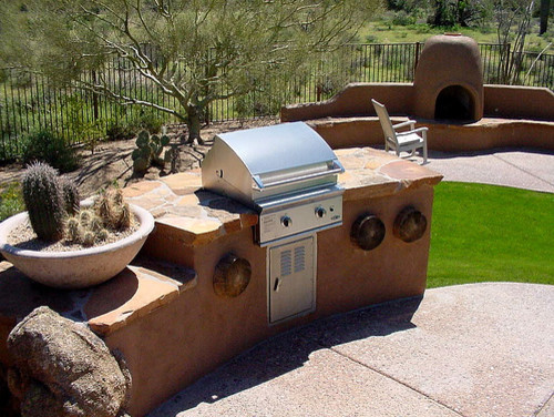 Custom BBQ contemporary patio