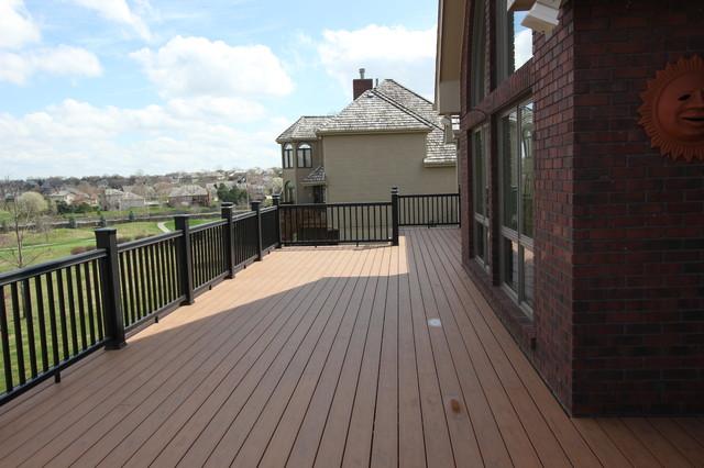 Custom Built Decks traditional-patio