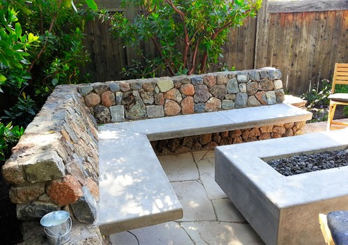 Custom Concrete Fire Table and Benches