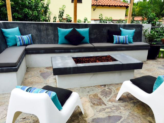 Custom Cushions for Built-in Concrete Bench contemporary-patio - Custom Cushions For Built-in Concrete Bench - Contemporary - Patio