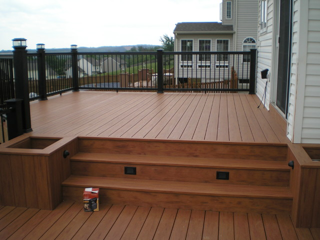 Custom decks traditional patio baltimore by for Neat deck ideas
