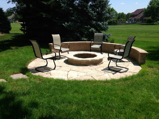 Custom Backyard Fire Pits : Custom Designed Screen Porch, Patio, and Fire Pit traditionalpatio