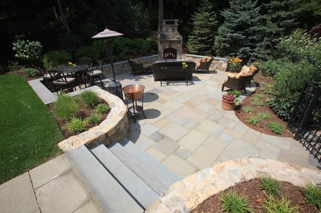 Custom Fireplace and Patio Space contemporary-patio