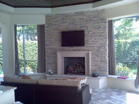 Custom Fireplaces Contemporary Patio Miami By Hot Concepts Fireplaces