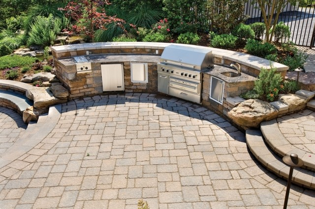 Custom Full Outdoor Kitchen  Traditional  Patio  philadelphia  by