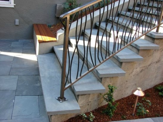 outside hand railing for stairs