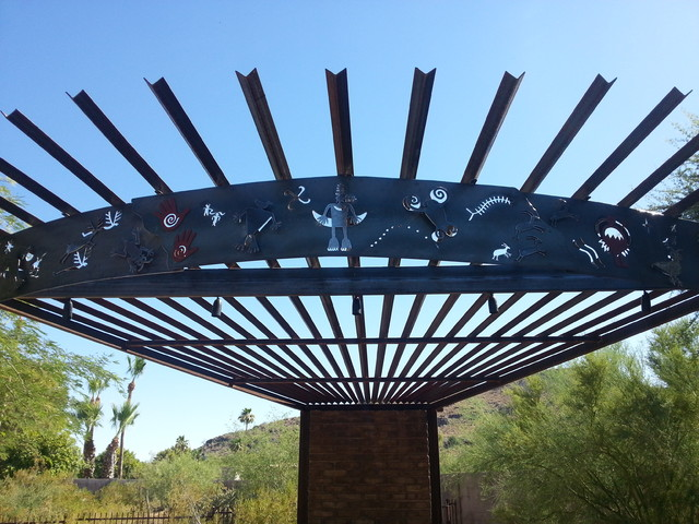 Inspiration for an eclectic patio remodel in Phoenix