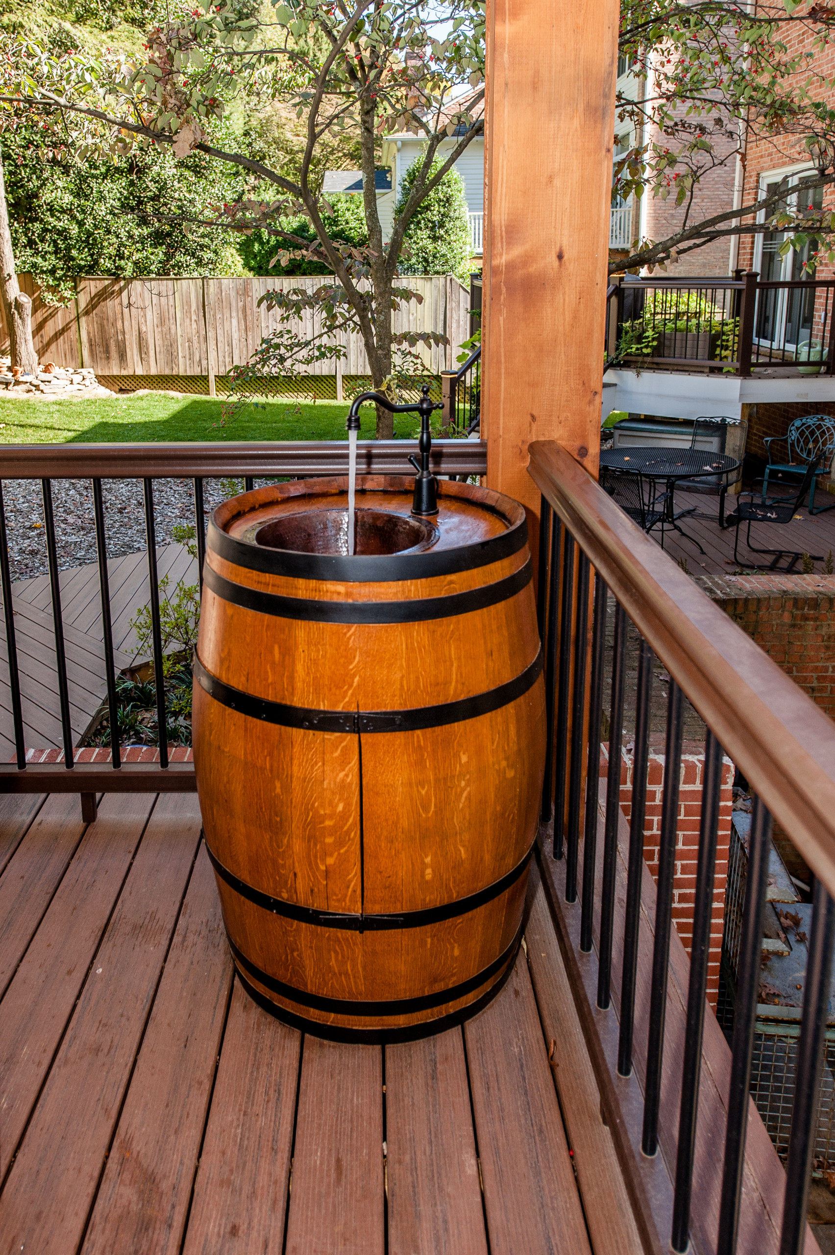 Custom made barrel for draft bear or desired drink of choice, while entertaining
