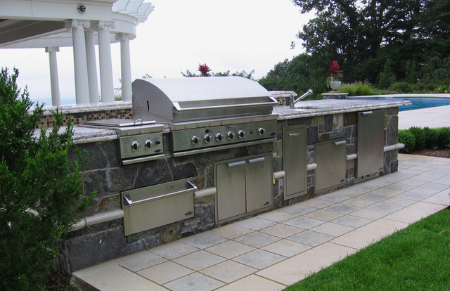 Custom Outdoor Bar Bbq Grill Design Installation