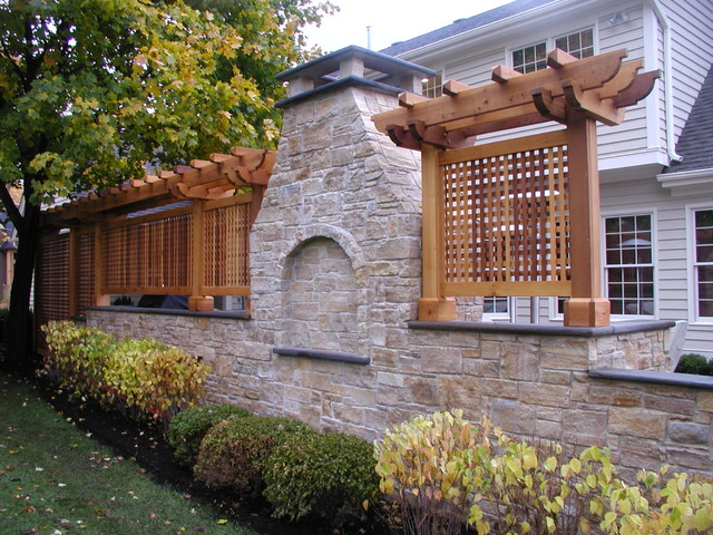 Custom Outdoor Fireplaces traditional-patio