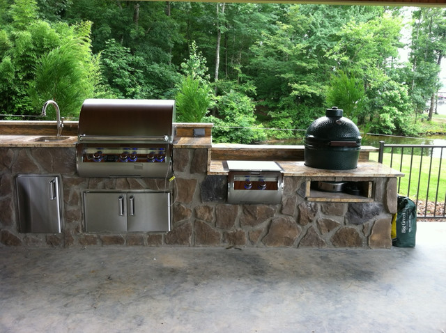 Custom outdoor kitchen by fine 39 s gas with fire magic grill for Gasgrill fur outdoor kuche