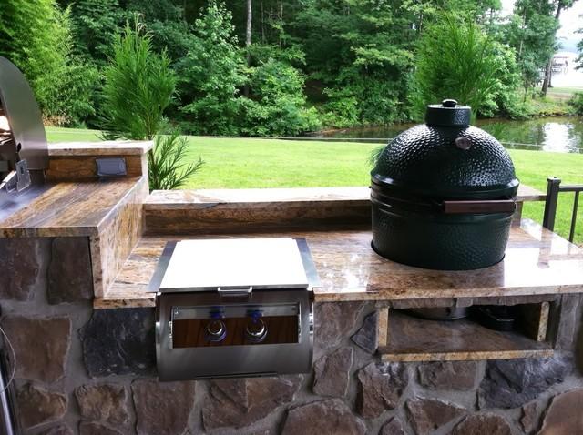 Custom Outdoor Kitchen traditional-patio