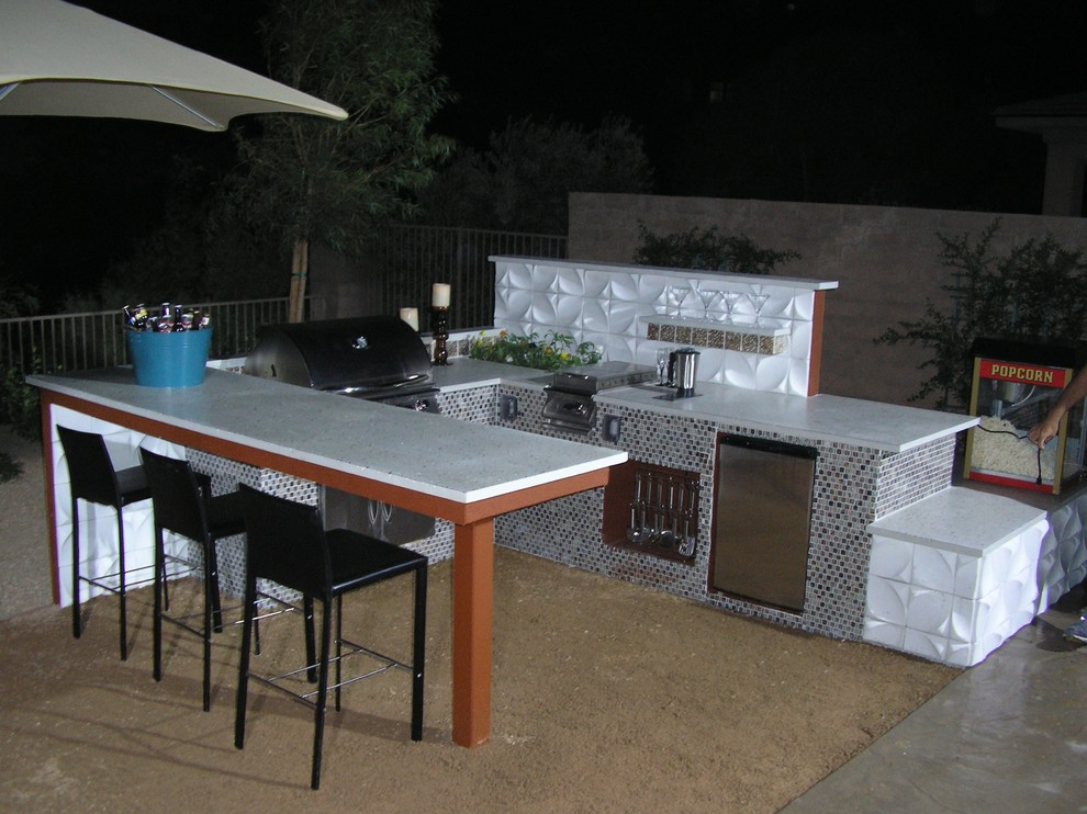 Custom Outdoor Kitchens And Bbq Islands Contemporary Patio Las Vegas By Made In The Shade Patio Bbq