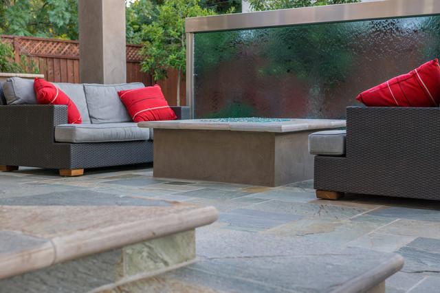 Custom outdoor single panel water feature palo alto ca - Houzz palo alto ca ...