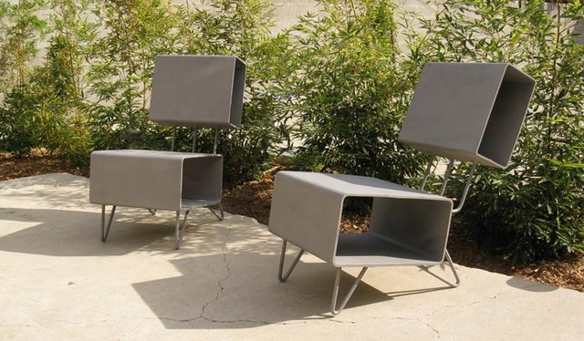 Custom Patio Furniture From Reclaimed Salvaged Structural Steel Eclectic Los Angeles