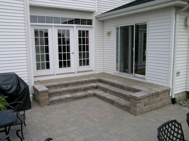 Custom Patio Landing Area With Steps Traditional