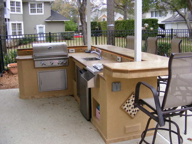 Custom ready Made Island - Our Classic L-Shaped Design - Traditional - Patio - jacksonville - by ...