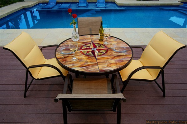 Custom Stained Gl Patio Furniture