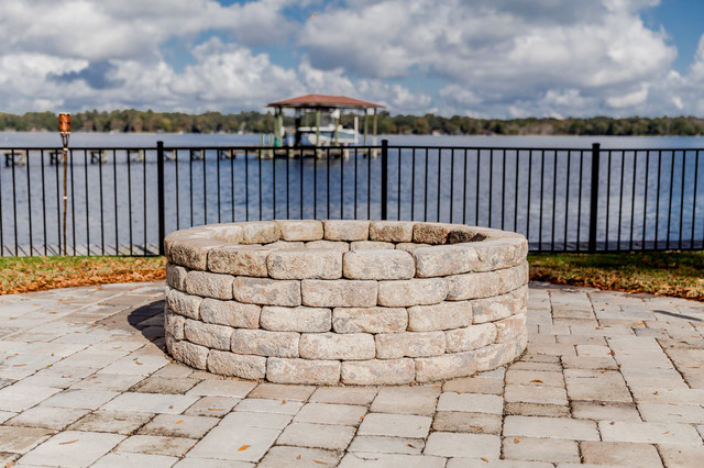 custom waterfront home traditional patio by j a