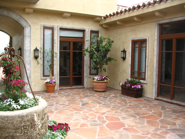 custom windows mediterranean patio