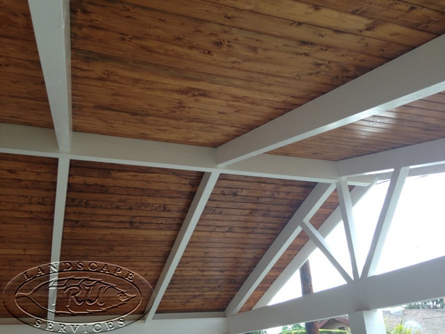 custom wood patio cover cypress craftsman orange