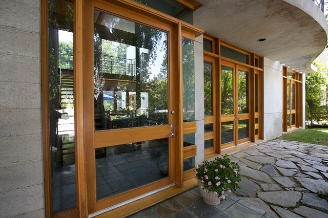 Custom Wood Windows and Door Frames - Contemporary - Patio - Los ...