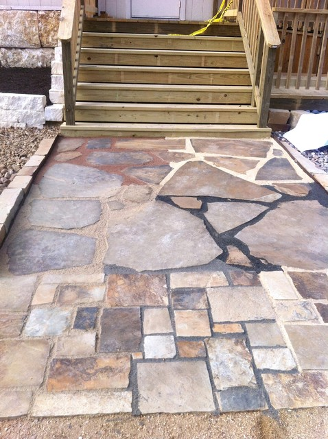 Customer's traditional-patio