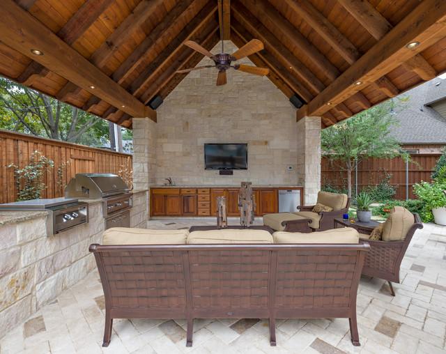 Dallas Backyard Pool Retreat Traditional Patio Dallas By Harold