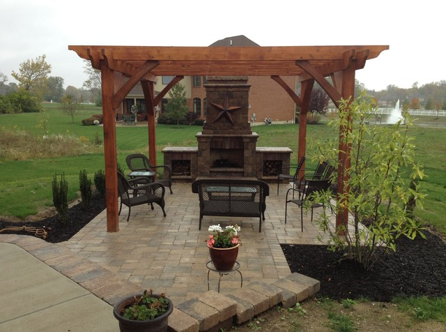 Davenport Outdoor Kitchen Outdoor Fireplace And Paver