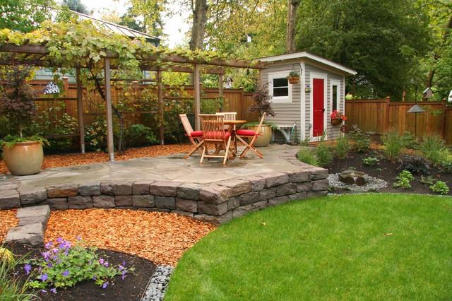 David and Terri's backyard traditional-patio