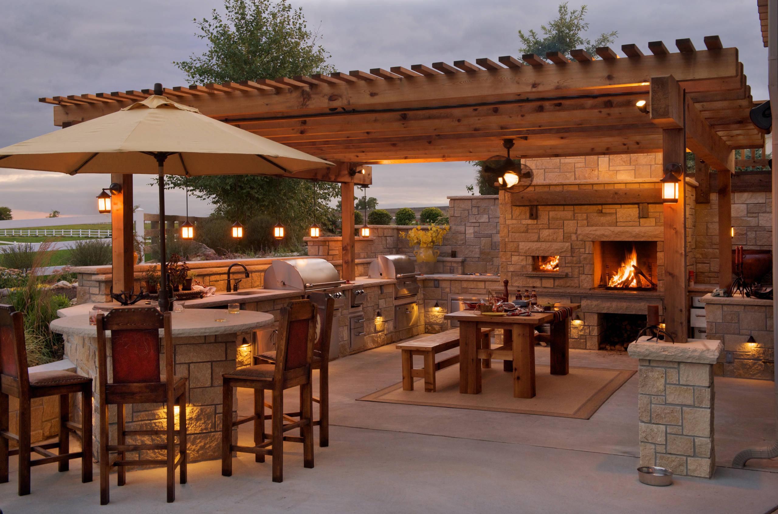 75 Beautiful Farmhouse Outdoor Kitchen Design Houzz Pictures Ideas July 2021 Houzz
